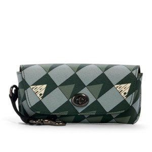 Coach Sunglass Case Signature Canvas Checkered Geo